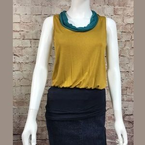 W By Worth Blouse Size 0 Color Block Mustard too